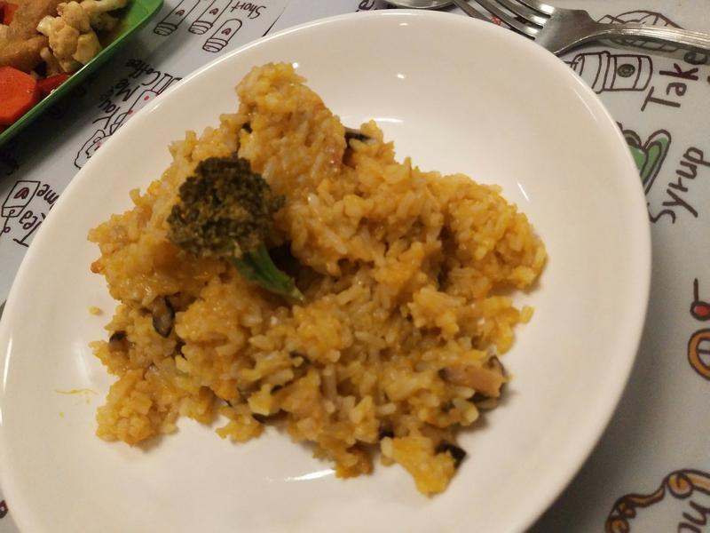 香菇南瓜饭(给不爱吃菜的小孩)
