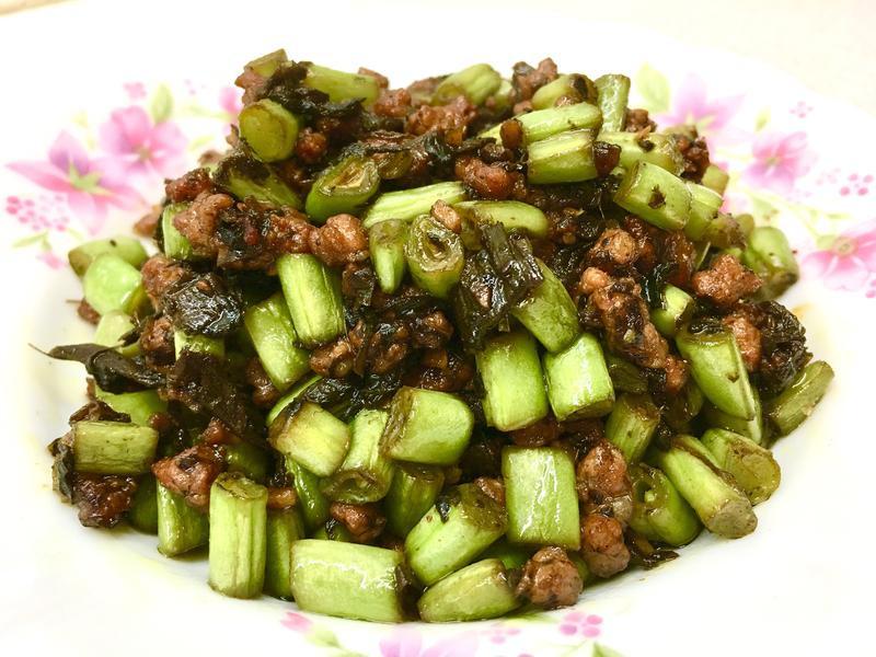 欖菜肉末四季豆