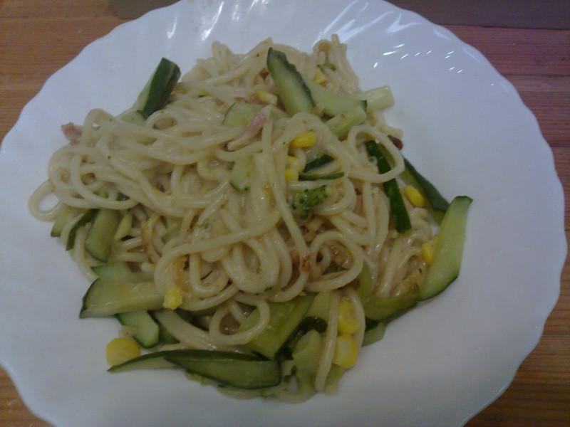 十分輕鬆料理DIY之奶油培根佐小黃瓜焗麵