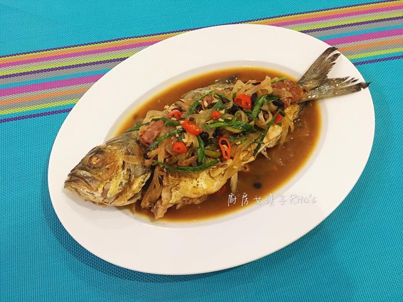 豆鼓蠔油燒魚