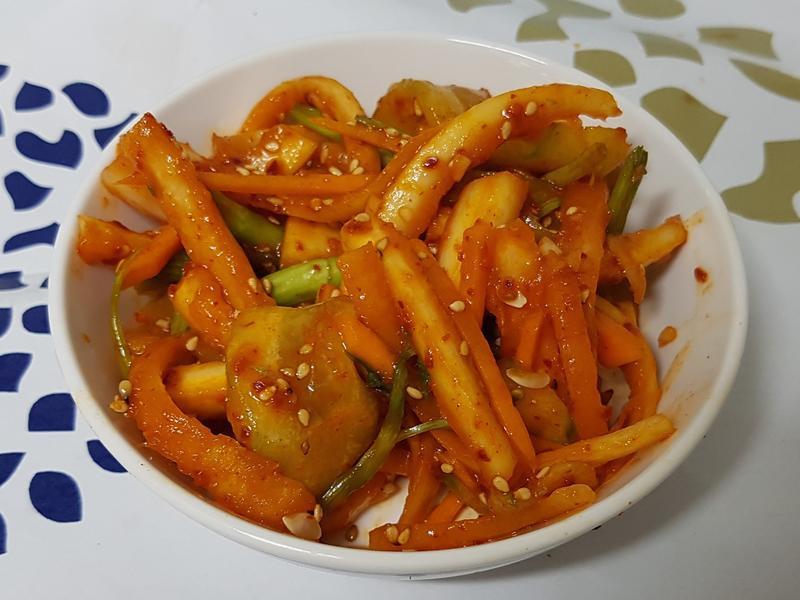 (韓式) 魷魚拌桔梗 오징어도라지무침