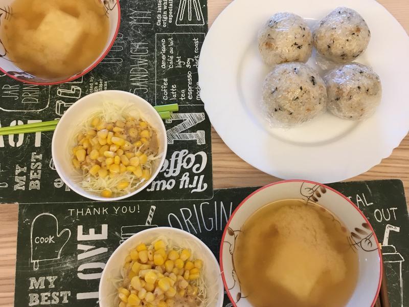 簡易飯糰朝食
