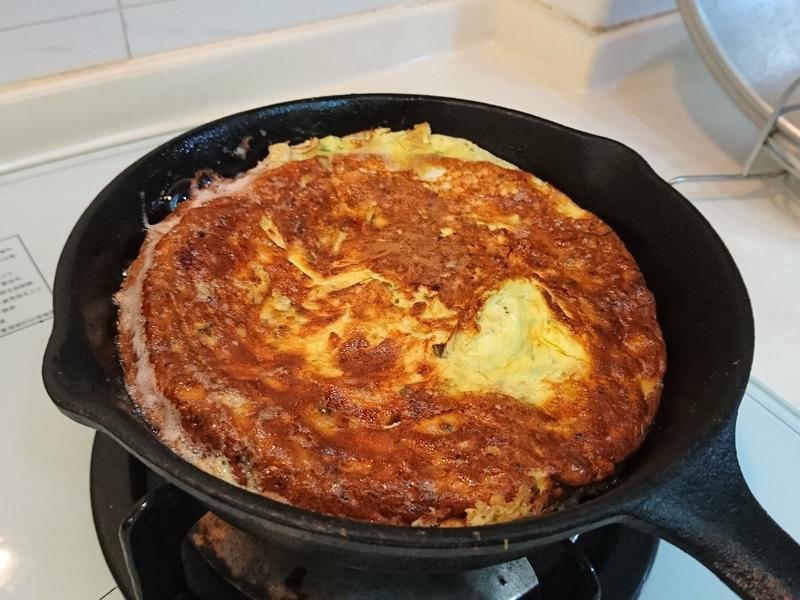 鐵鑄鍋菜脯蛋