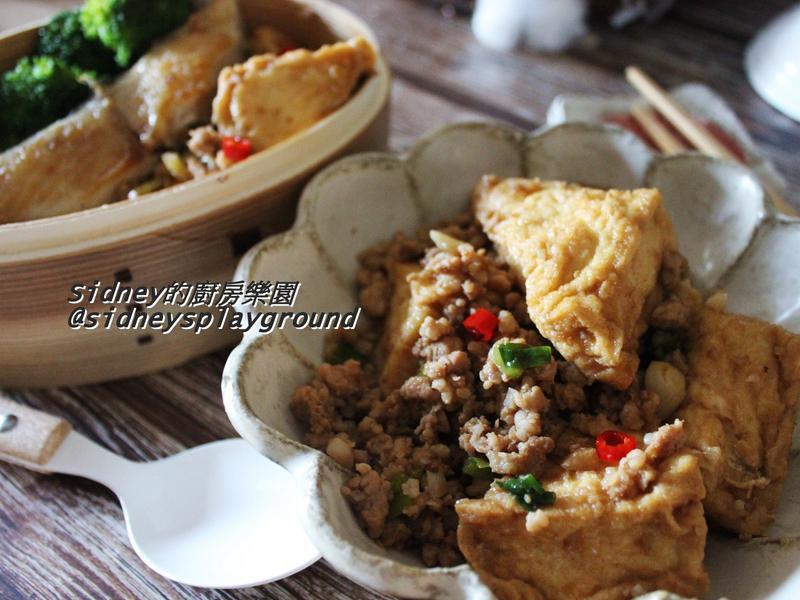肉末燒油豆腐