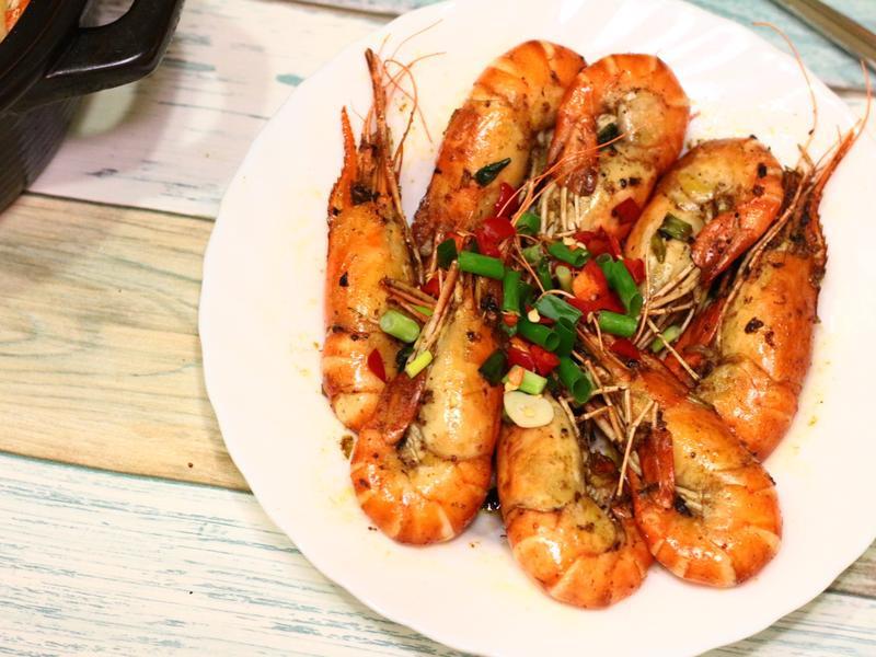 清爽泰國胡椒蝦 剛好的熟成蝦肉料理食譜