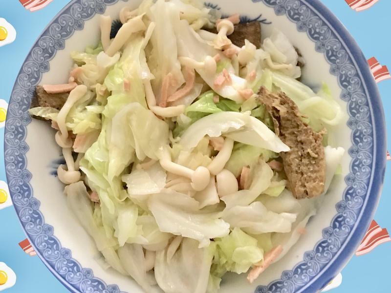 素炒高麗菜菇菇【好菇道好食光】