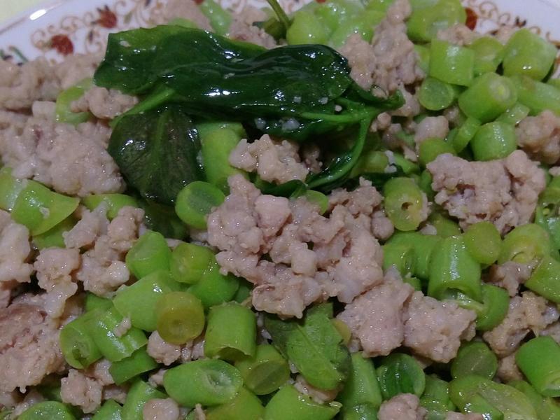 絞肉炒四季豆