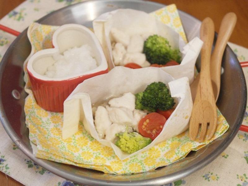 寶寶副食品「紙蒸魚」簡單又營養 ♪