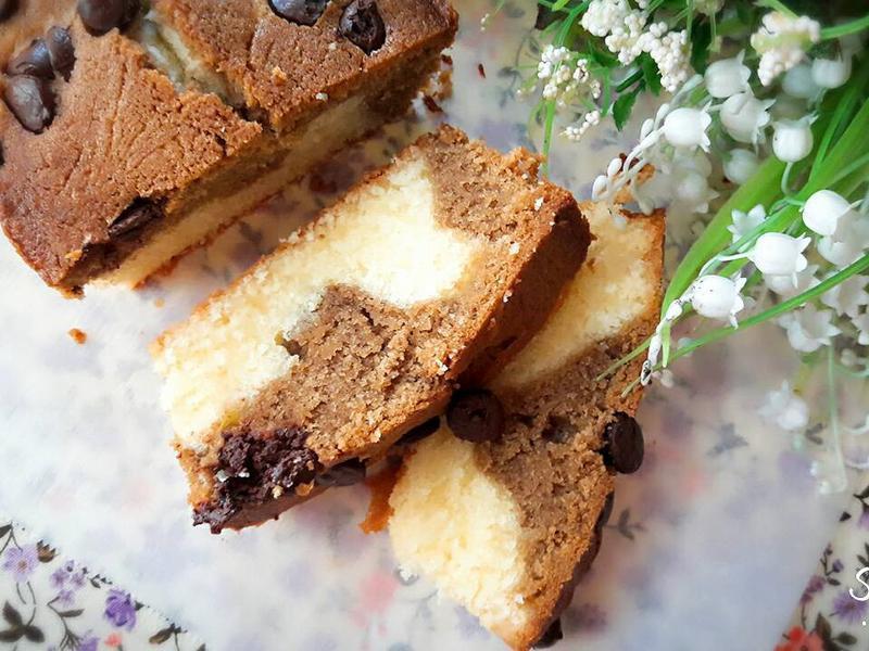 雙色咖啡磅蛋糕
