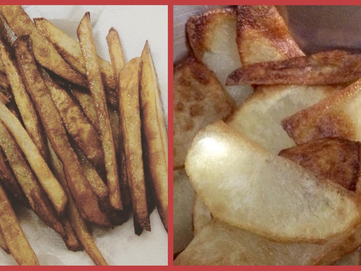 炸馬鈴薯片、炸馬鈴薯條
