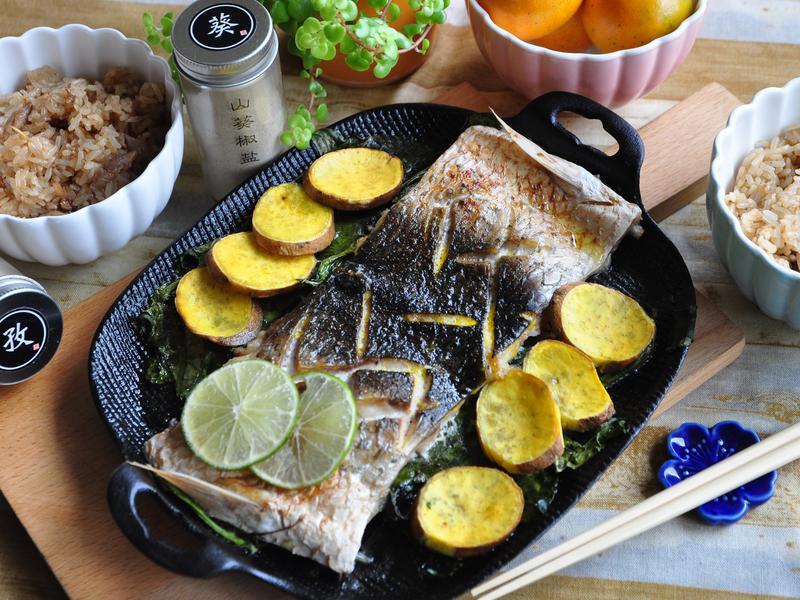 孜然香料鹽烤魚
