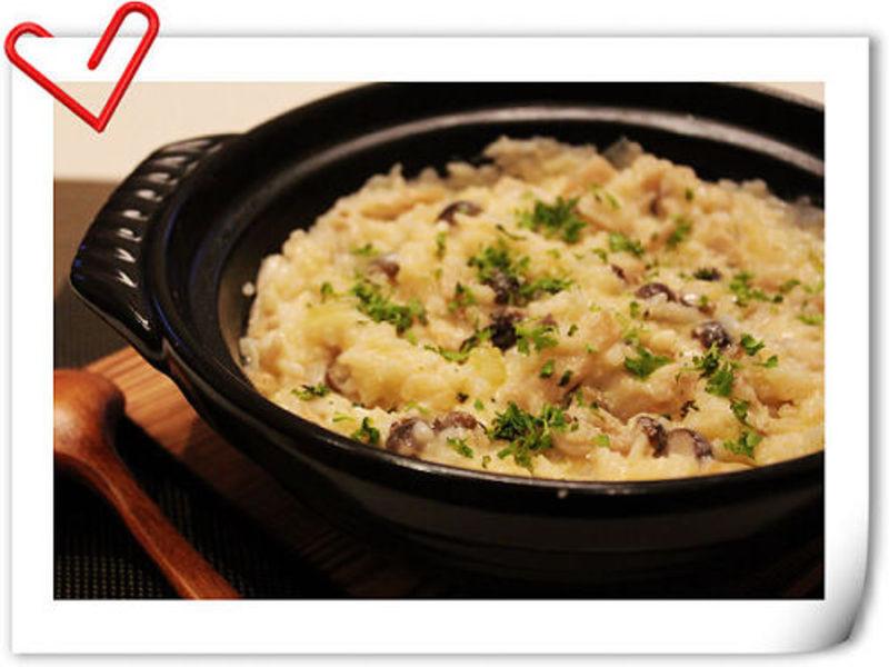 起司野菇燉飯