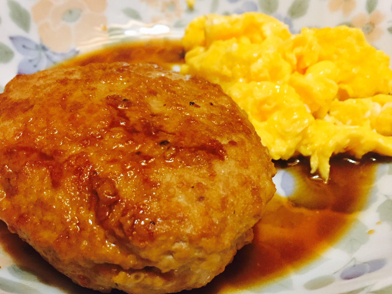豬肉漢堡排&起司炒蛋