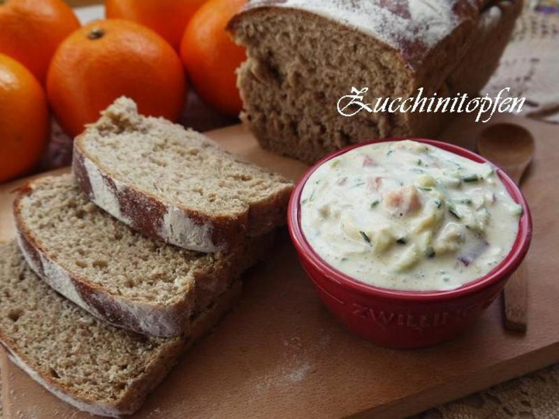 櫛瓜夸克麵包抺醬
