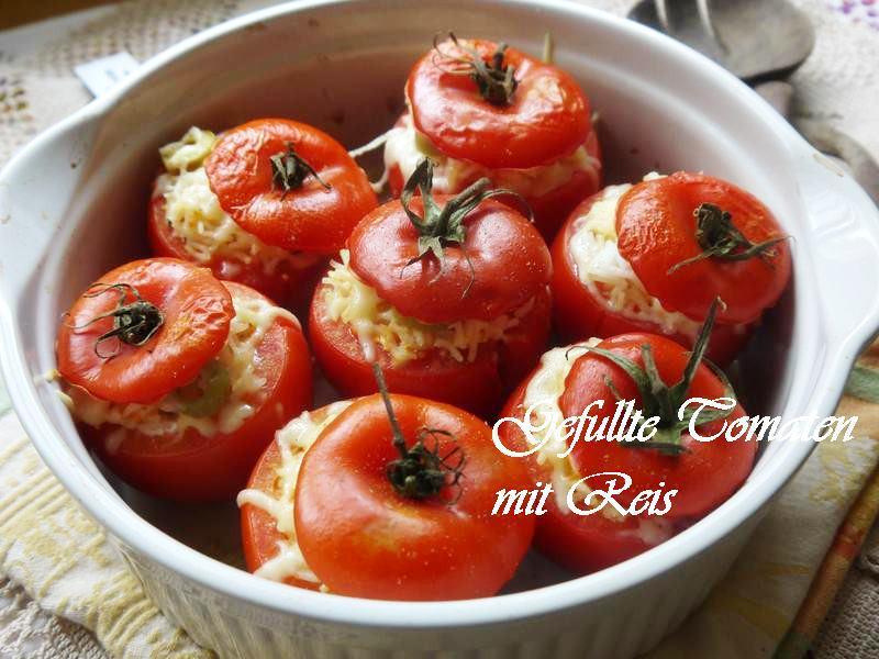 焗烤鑲嵌蕃茄佐米飯