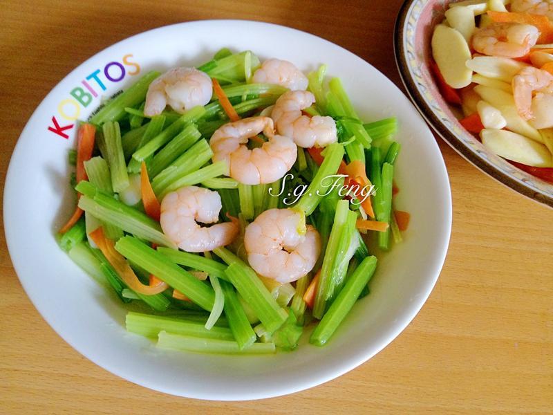 蝦仁炒芹菜