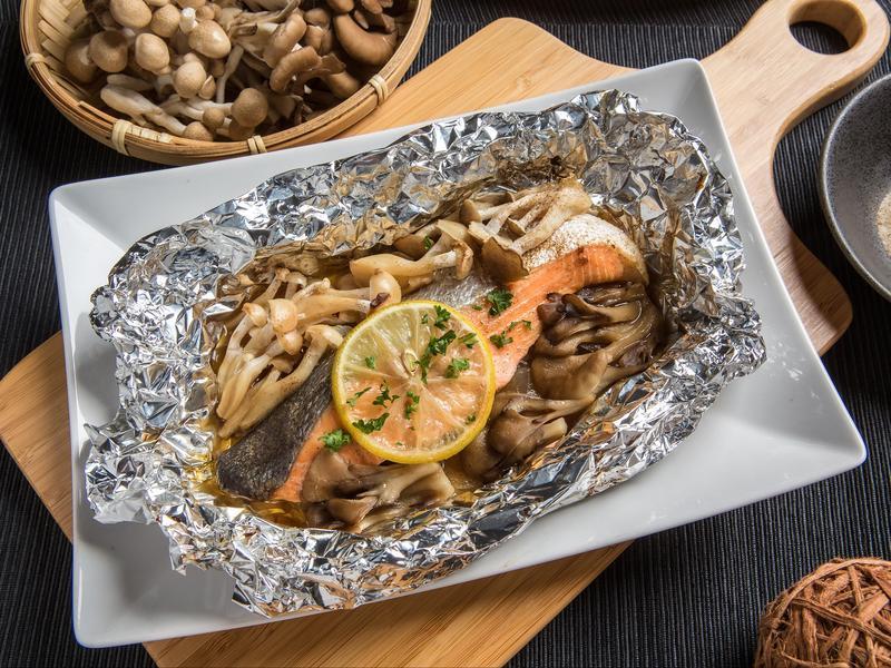 菇菇奶油香烤鮭魚【好菇道好食光】
