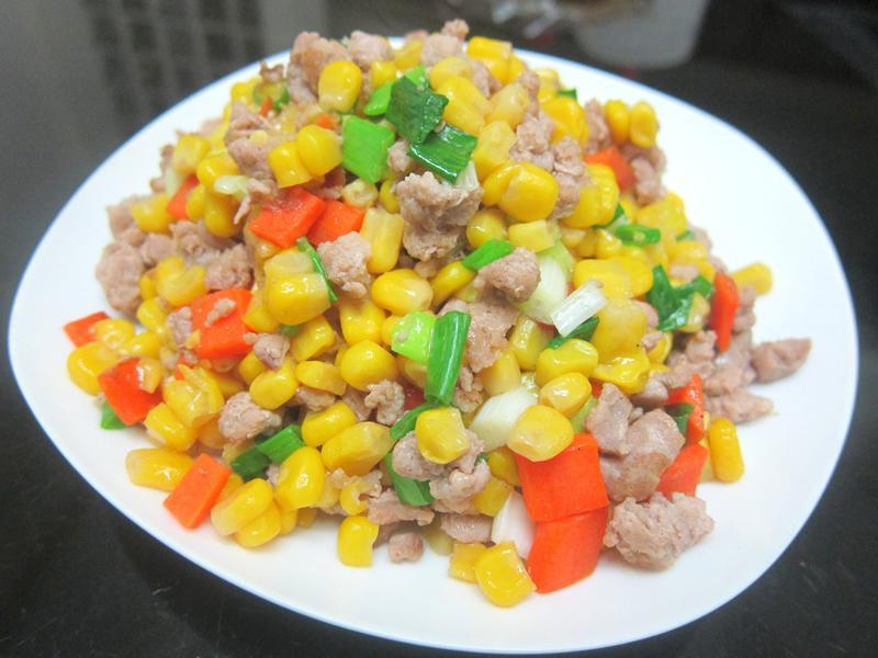 玉米炒肉末-超下飯便當菜