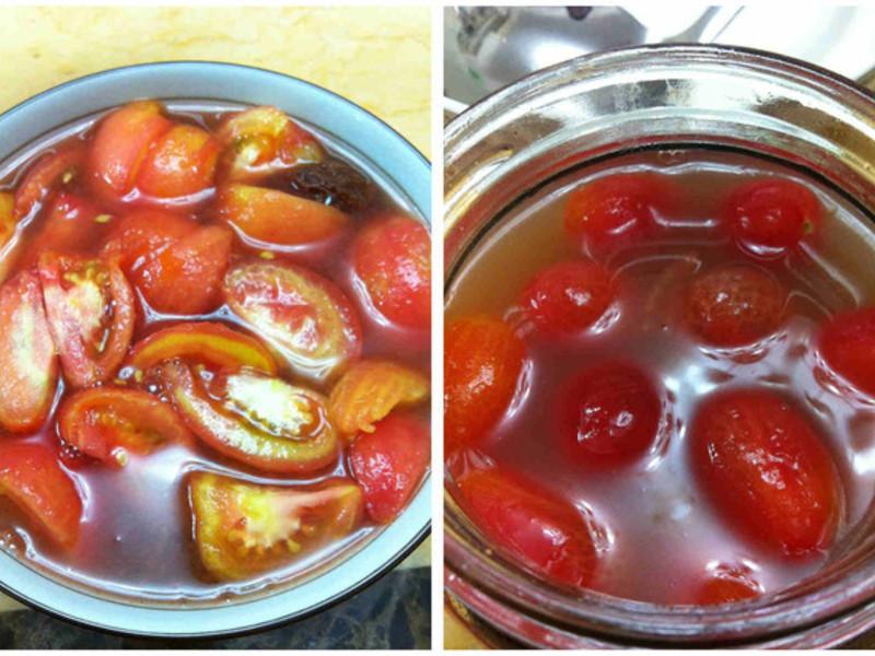 炎炎夏日之冰涼酸甜梅漬番茄