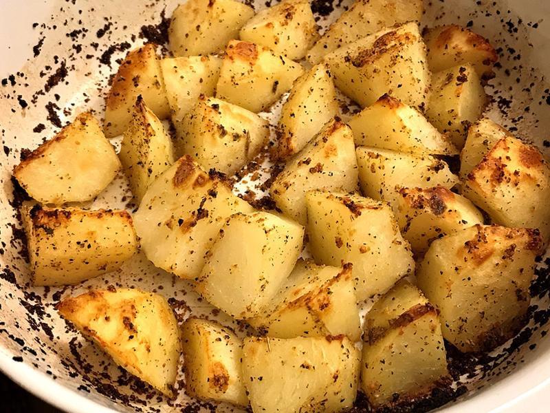 烤馬鈴薯塊 (外皮酥脆版)