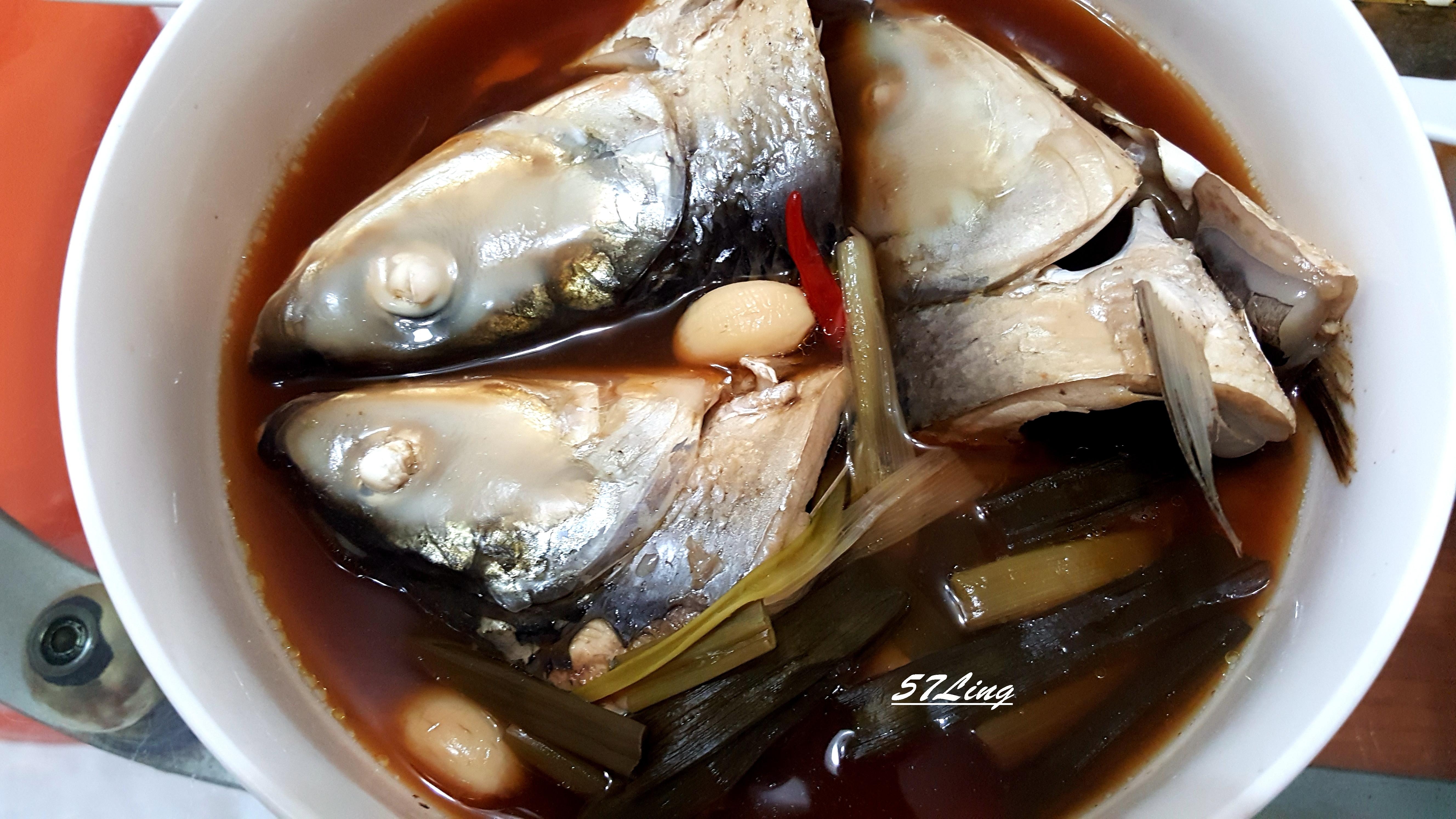 清燉虱目魚頭(電鍋料理)-1