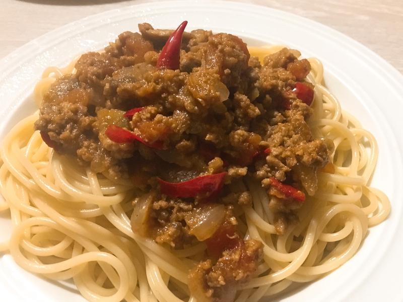 新手入門-辣味番茄蘑菇肉醬
