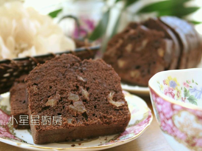 濃郁巧克力鳳梨磅蛋糕(鮮奶油做法)