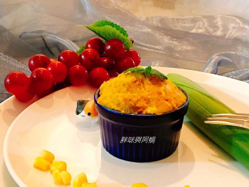 南瓜栗子玉米粒沙拉