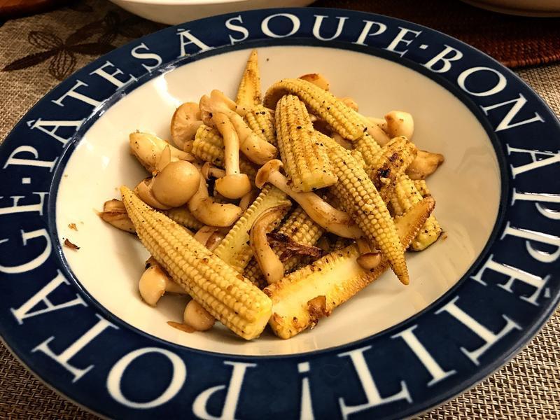 香煎玉米筍(乾煎)