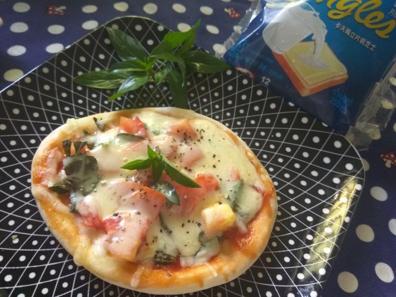 免烤箱版瑪格麗特披薩