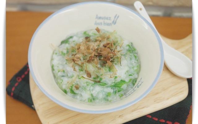寶寶副食品「小白菜柴魚粥」天然鮮味 ♪