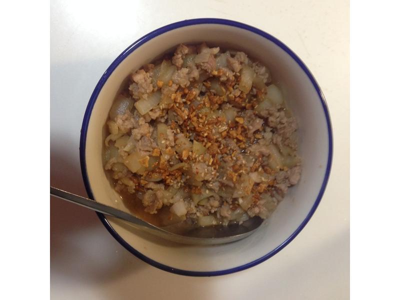 日式洋蔥炒絞肉(味噌口味)