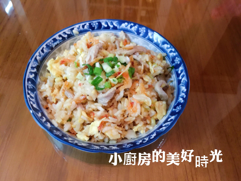 櫻花蝦肉絲炒飯