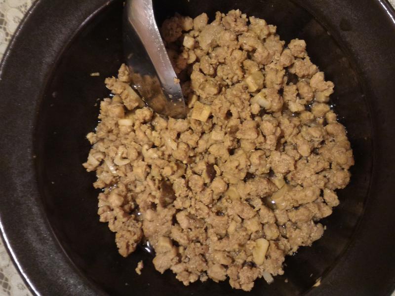 微波爐版蒜味香菇肉燥