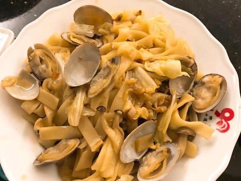 XO醬蛤蜊炒板條