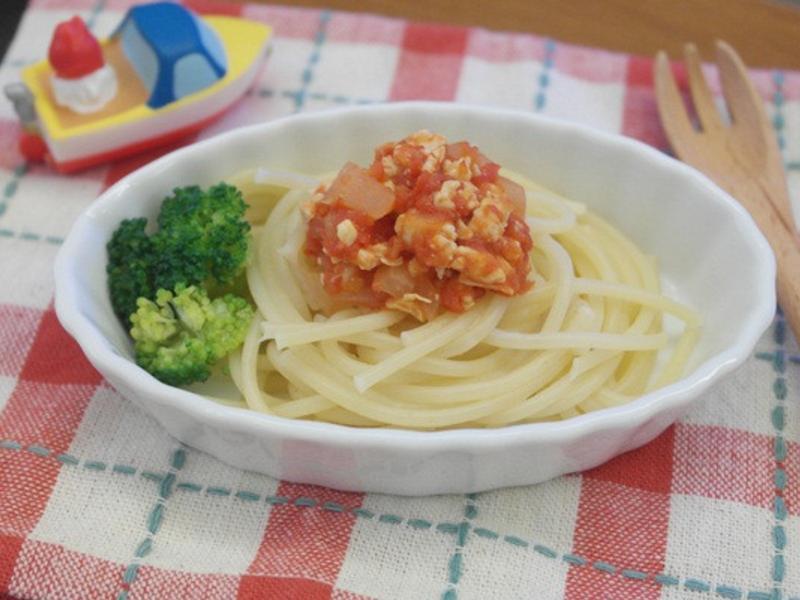 寶寶副食品「肉醬義大利麵」酸甜好開胃 ♪