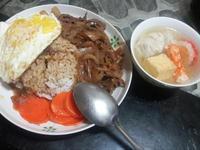 牛肉丼飯之餛飩湯