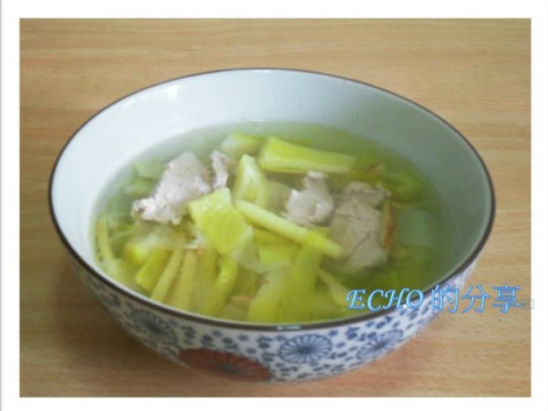 少油煙料理:火龍果花肉片湯