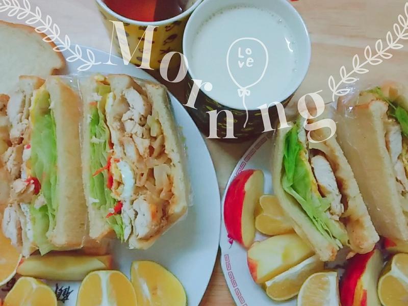 蔬菜雞肉三明治