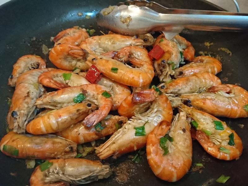 不油炸的椒鹽蝦