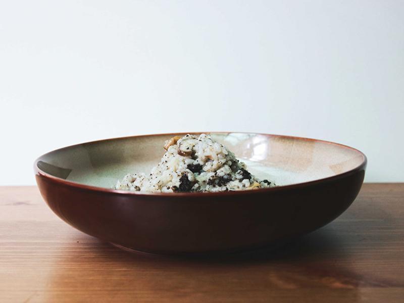 白松露牛肝蕈燉飯
