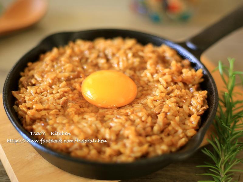 日式月見咖哩飯