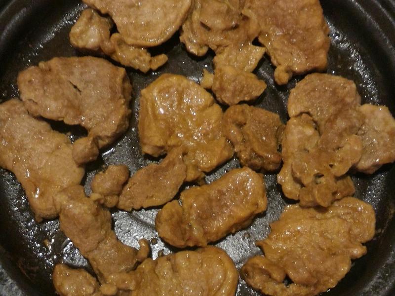 微波爐版炒蒜味腰內肉