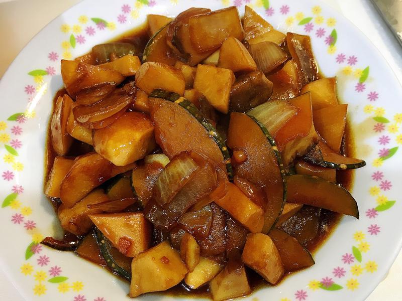 南瓜燒杏鮑菇