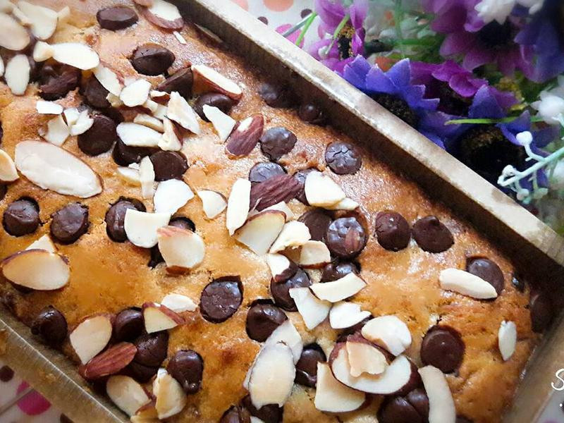 香蕉杏仁巧克力磅蛋糕