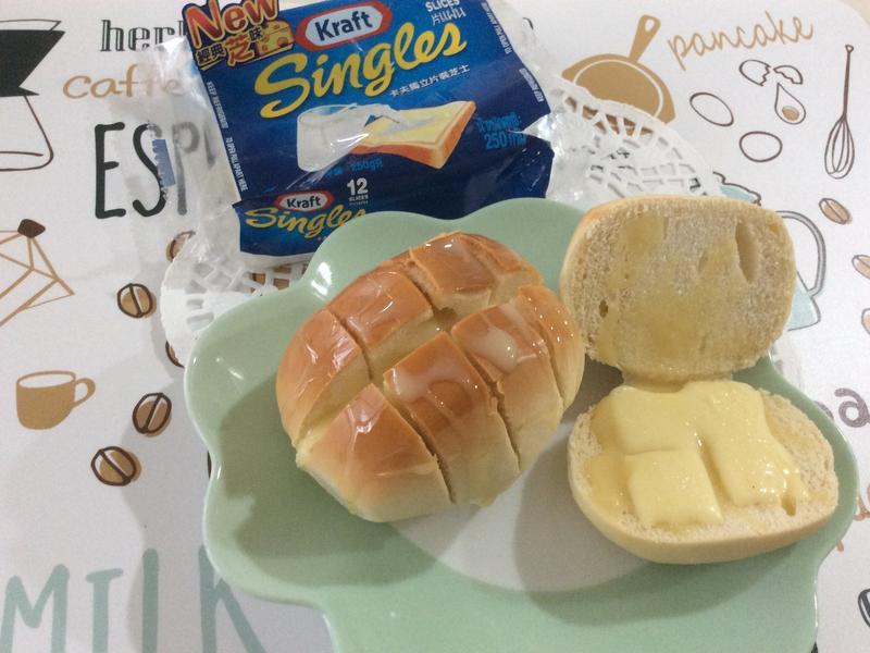 起司煉乳烤饅頭【卡夫起司片】