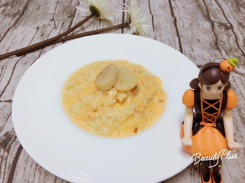 炙燒切達乳酪海鮮燉飯