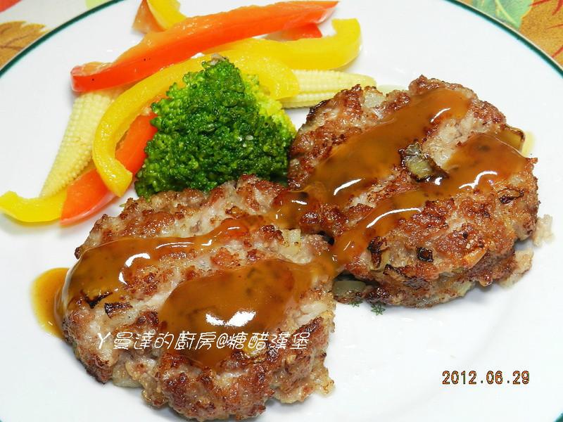 ㄚ曼達的廚房~康寶鮮味炒手鰹魚口味~糖醋漢堡