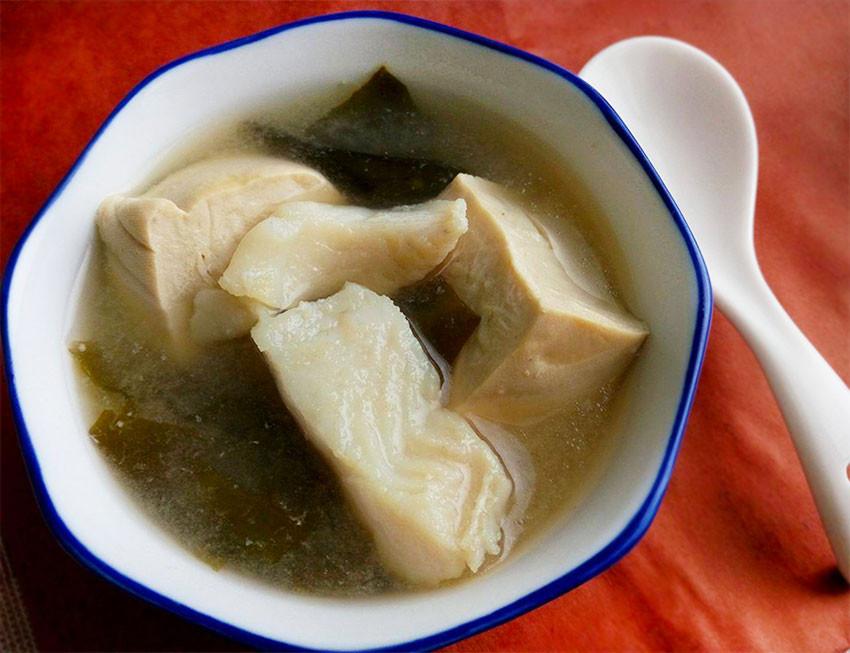凍豆腐魚肉味噌湯♥