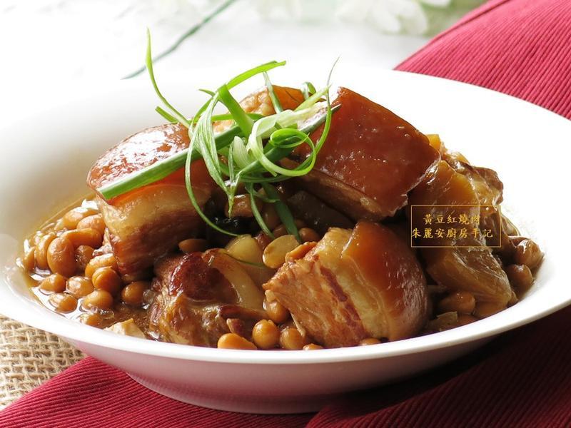 [黃豆紅燒肉]電鍋菜料理